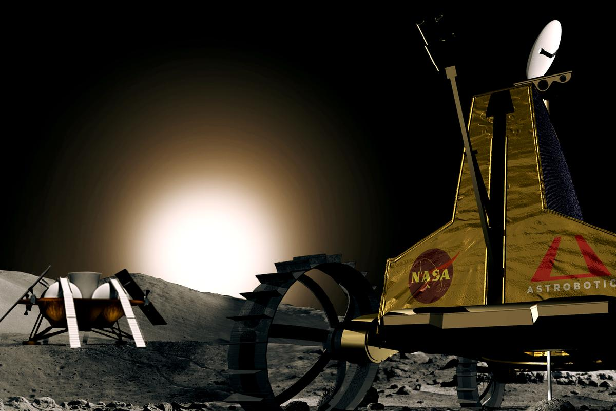 Astrobotic Technology has received a NASA contract to determine if its Polaris rover robot could be used to prospect for ice on the Moon