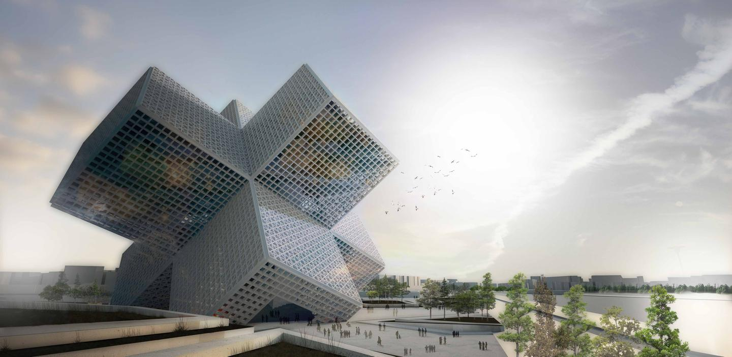 Portugal's OODA architectural firm has conceptualized a Disaster Education Centre that also doubles as an emergency shelter (image: OODA)