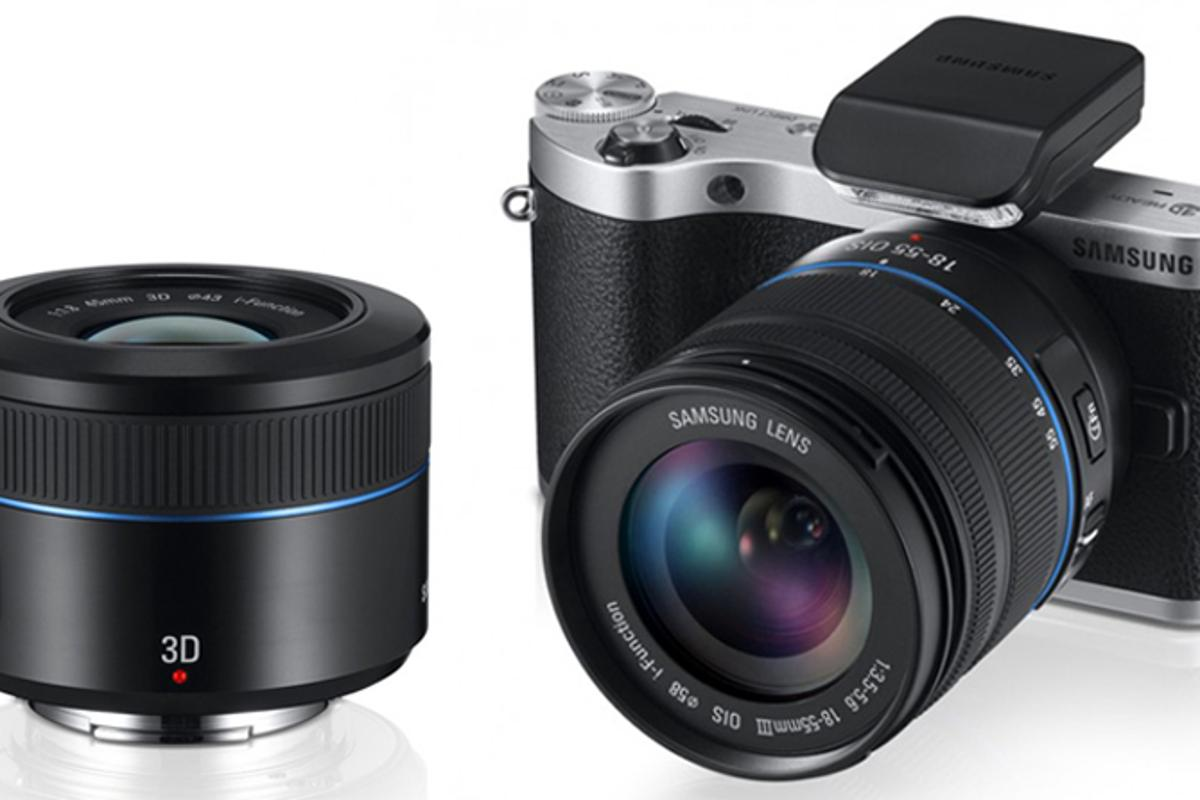 The Samsung NX300 was revealed along with a 45mm F1.8 2D/3D lens