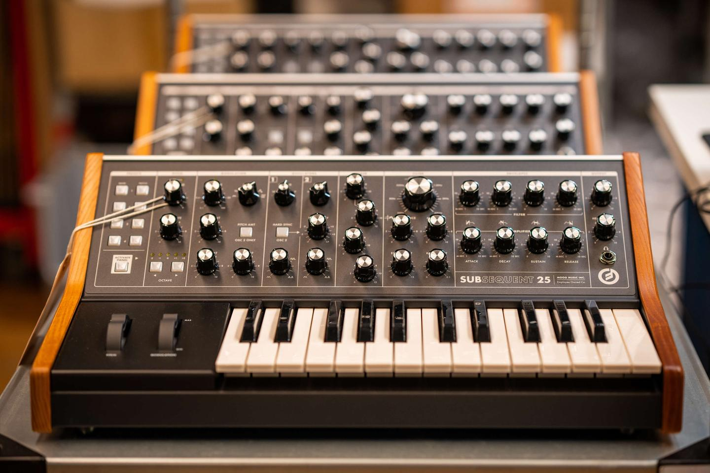 The Subsequent 25 is based on the Sub Phatty sound engine and is Moog's most compact keyboard synth to date