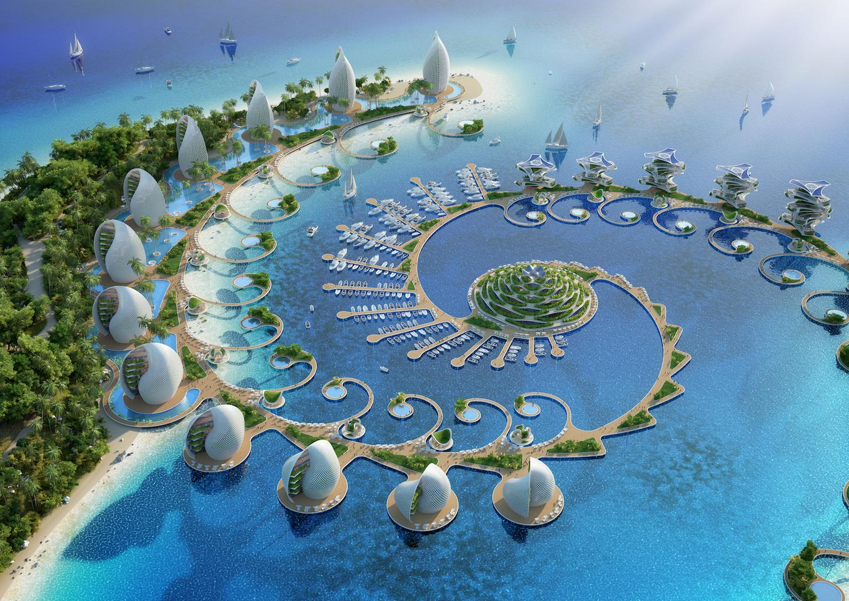 The Nautilus Eco-Resort would be raised ontelescopic piles