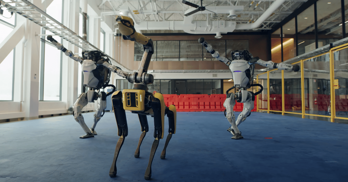 Entire Boston Dynamics robot line-up dances in the new year