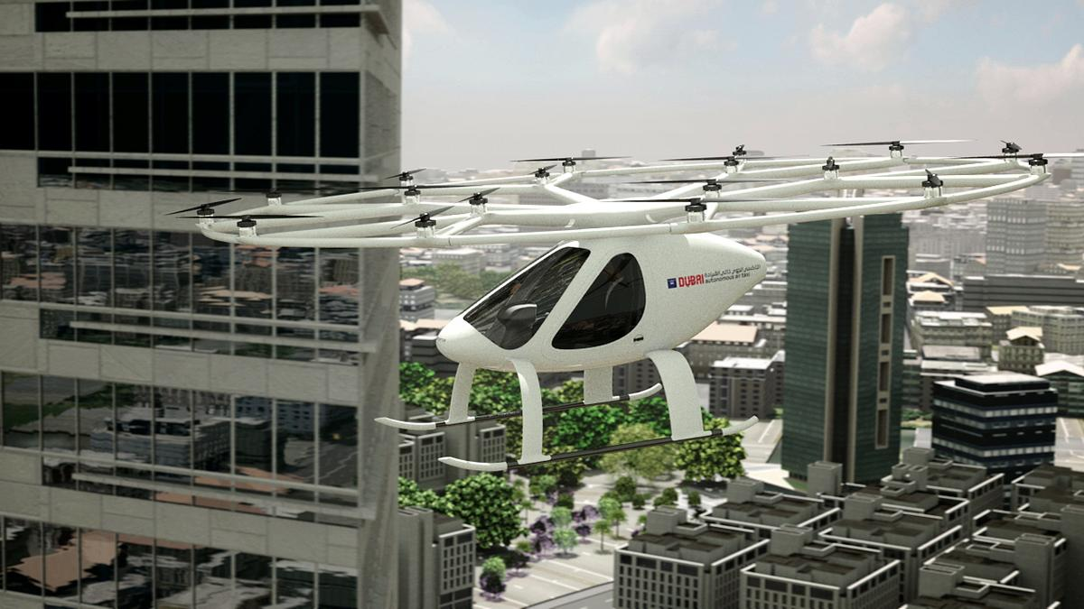 The Volocopter can lift off and land vertically