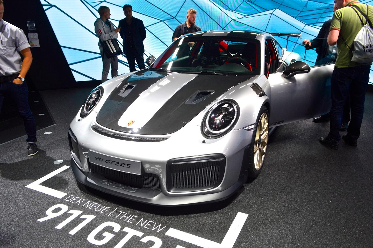 The new 911 GT2 RS on show in Geneva