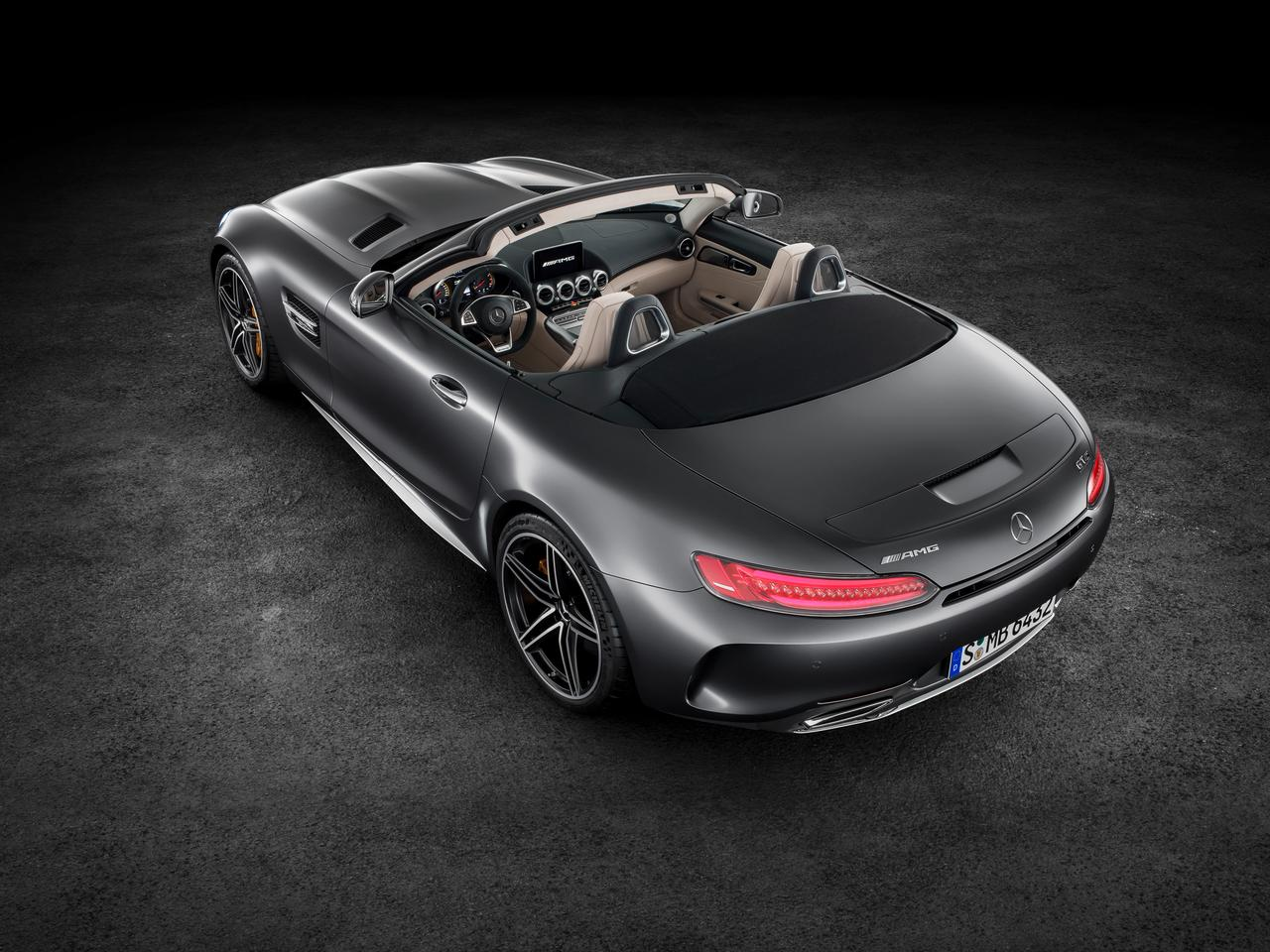 The AMG GT Roadster shares its interior with the coupe