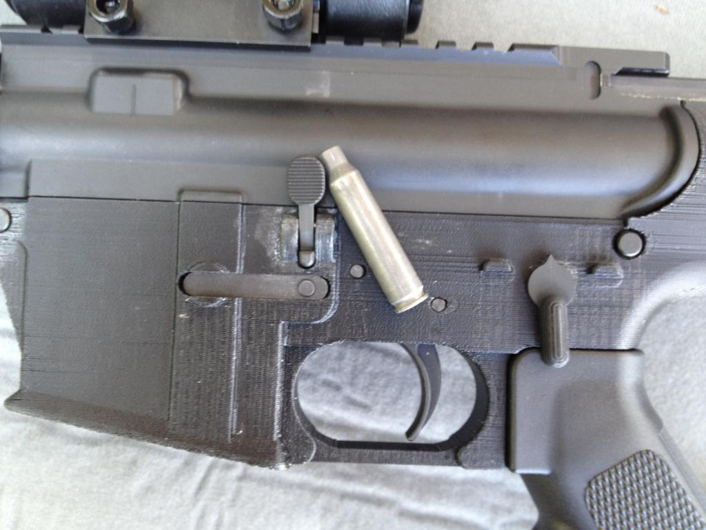 One gun enthusiast has successfully built and fired a the first gun using an AR-15 rifle part made with a 3D printer