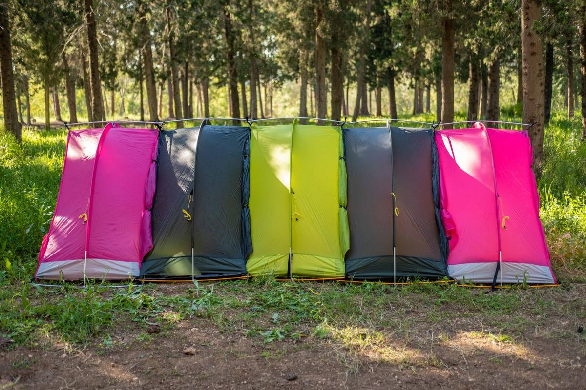 The modular RhinoWolf comes with a sleeping bag and air mattress, with the entire unit weighing in at under 6 lb