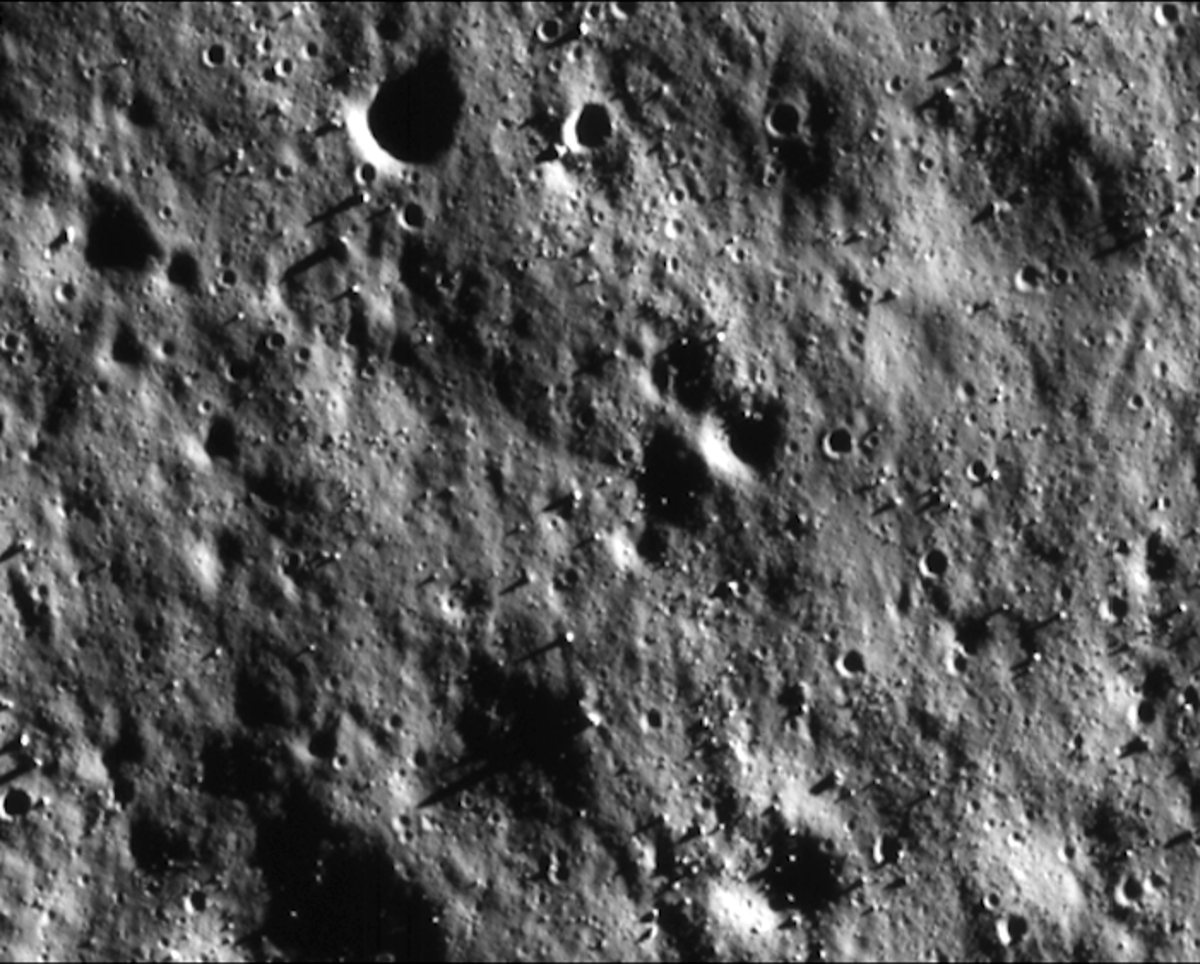 The surface of the Moon, as seen by the Chandrayaan-2 from a distance of 100 km