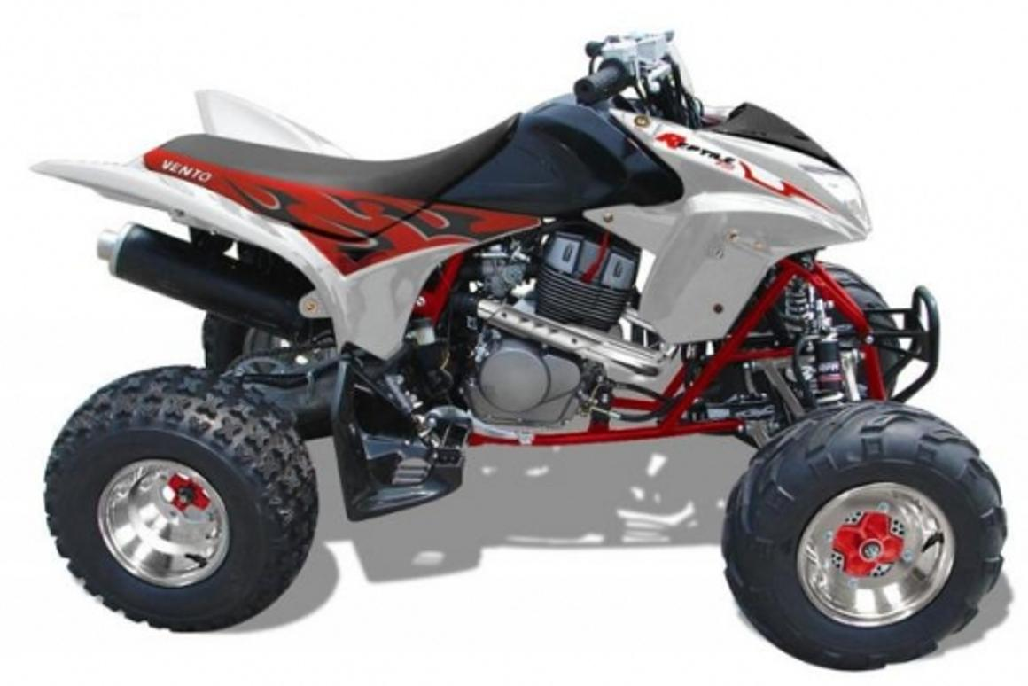 The 400cc, three-cylinder Vento Reptile is the first bike Vento have designed and built from the ground up.