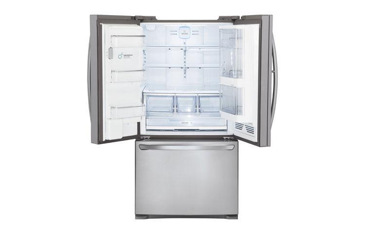 LG's new Door-in-Door French door super capacity fridge offers 31 cubic feet of storage