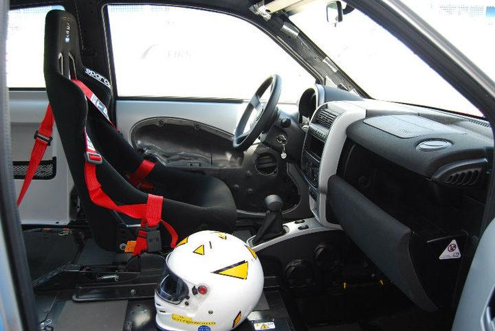 Interior of race-ready THINK City EV