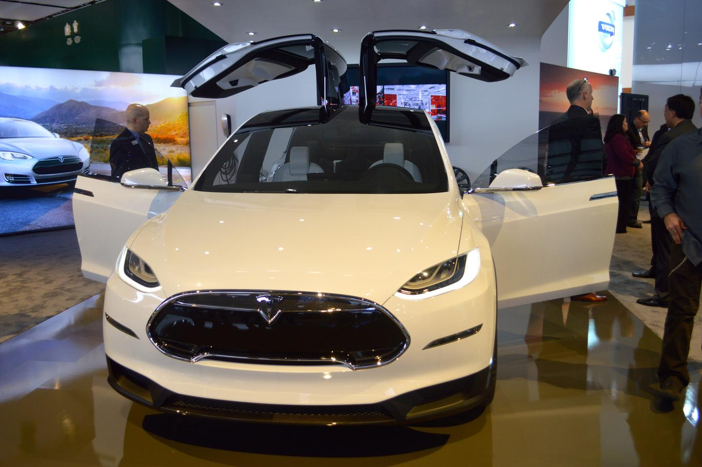 The Tesla Model X at NAIAS 2013