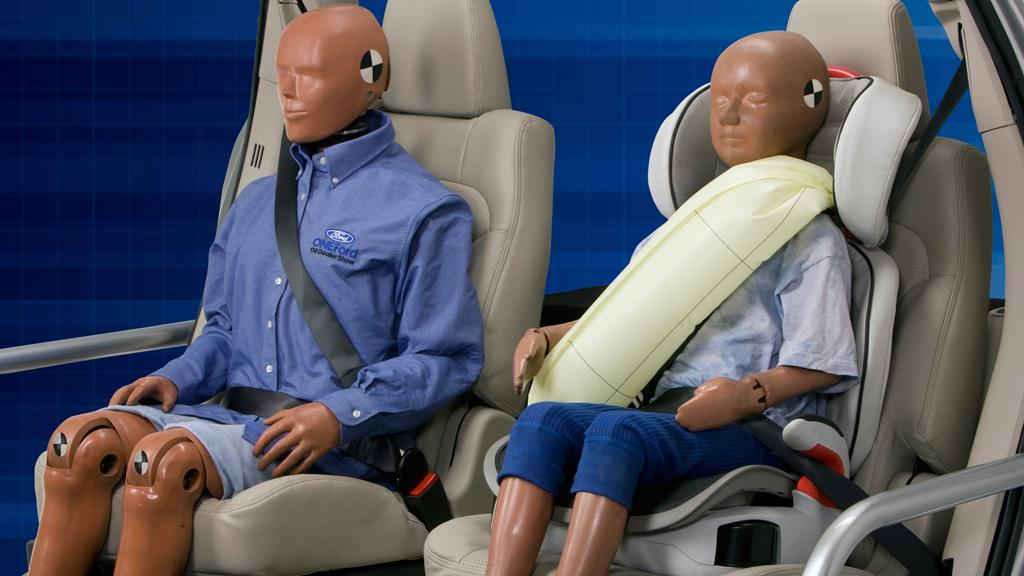 Ford's new inflatable seatbelts, which are designed to provide additional protection for rear-seat occupants