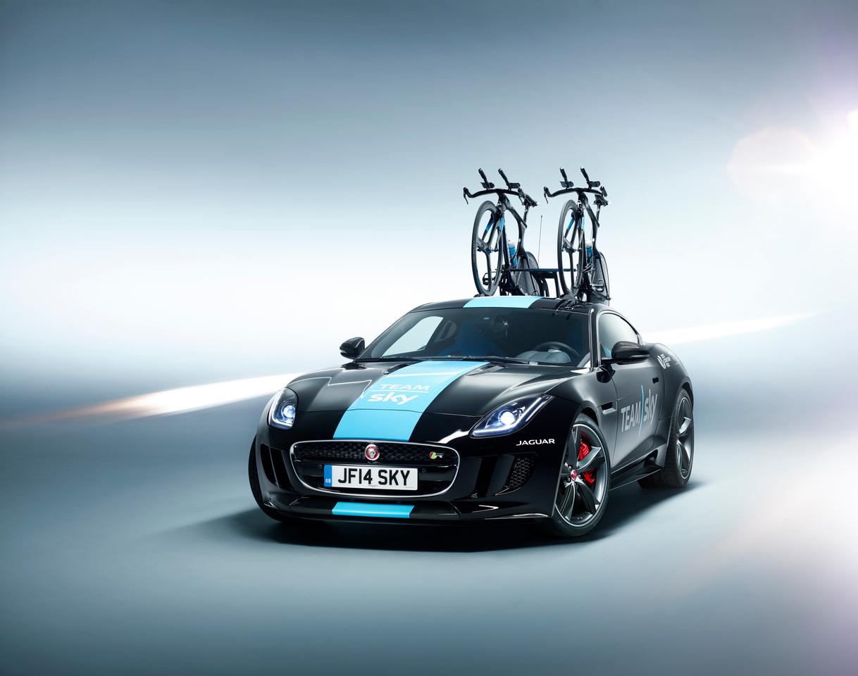 The Team Sky F-Type can carry two Pinarello Bolide TT bikes