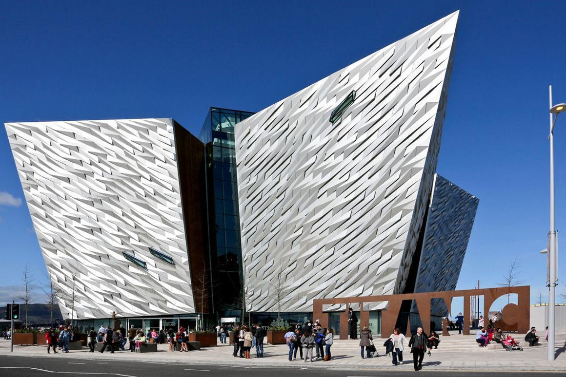 The TitanicBelfast museum in Belfast, Northern Ireland