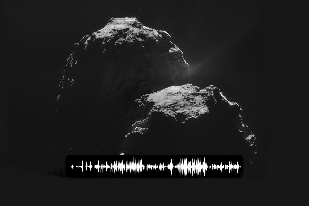 "Rosetta has picked up a mysterious ""song"" from comet 67P/Churyumov-Gerasimenko (Image: ESA/NASA/JPL-Caltech)"
