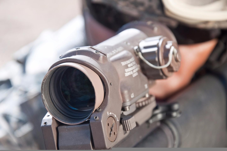 The ELCAN fits on a standard assault rifle rail