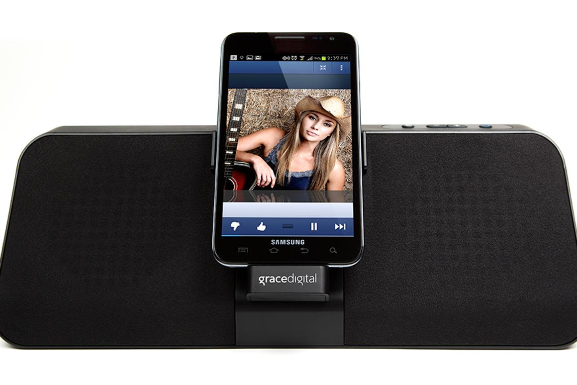 Grace Digital has launched the gdock speaker dock for Samsung Galaxy and Note