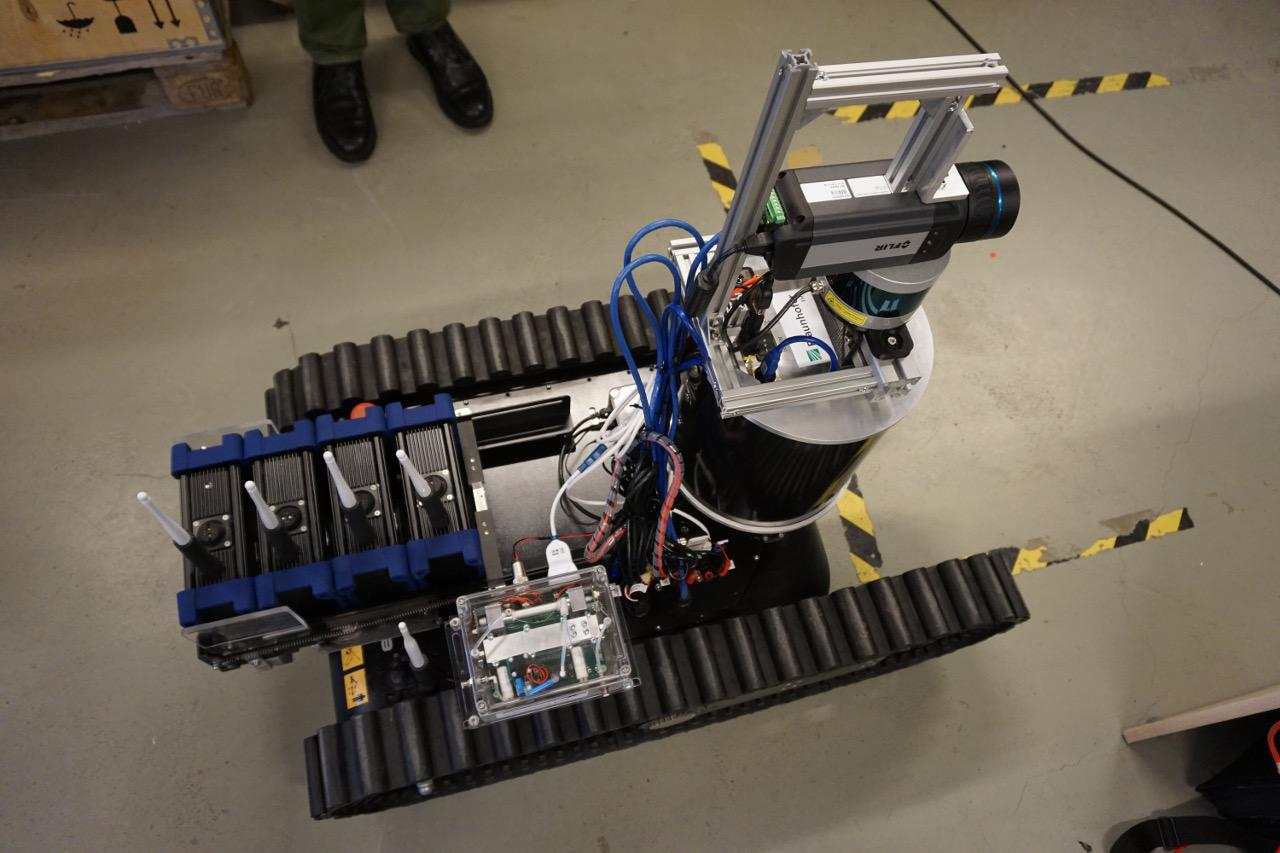SmokeBot is able to see through dense smoke using a combination of a stereo thermal camera, a 3D radar camera, and a LiDAR (Light Detection and Ranging) unit