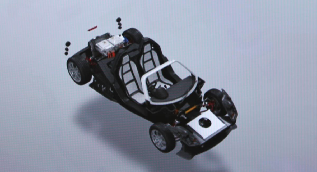 The TEEWAVE AR.1 Electric sports car