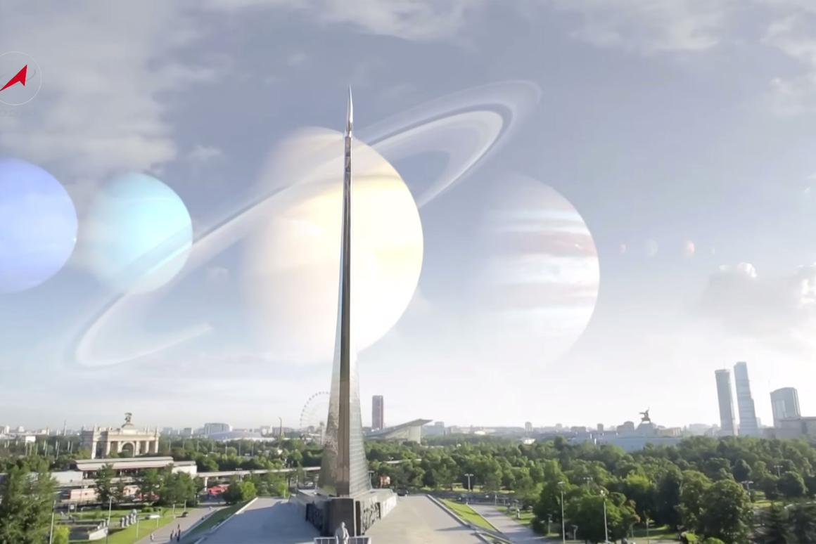Roscosmos has released a series of videos that replace our Moon and Sun with well known planets and stars (Image: TV Roskosmos)