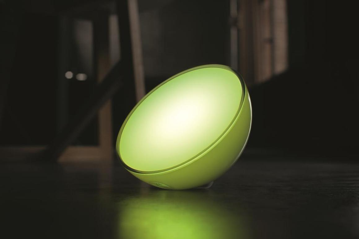 The Philips Hue Go allows users to choose from more than 16 million colors and seven different lighting effects
