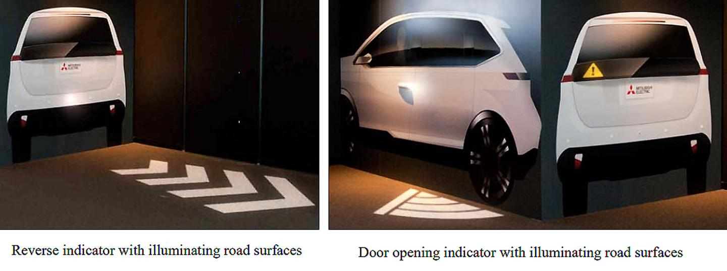 Mitsubishi's Safe and Secure Lighting system will be demonstrated at the Tokyo Motor Show