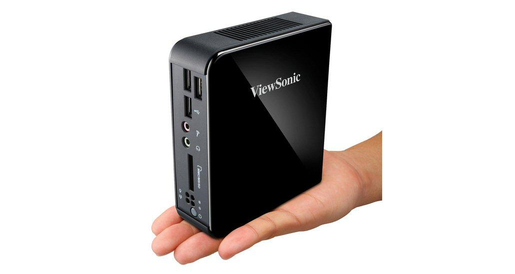 ViewSonic's new VOT125 mini-PC is being offered with four Intel ultra-low-voltage processor options and is small enough to fit into the tiniest of cubby holes