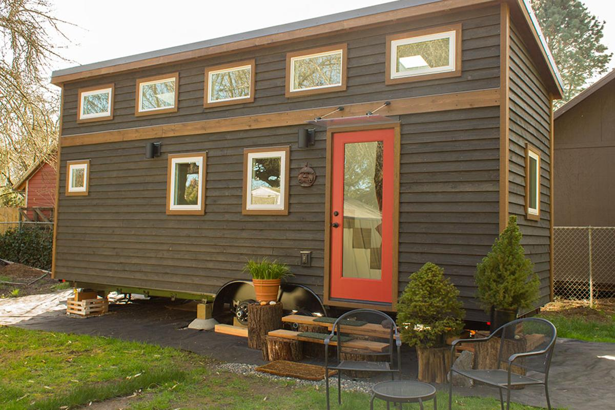 The Hikari Box home features 14 windows which are made with double pane glass to provide a high insulation value and lots of natural light