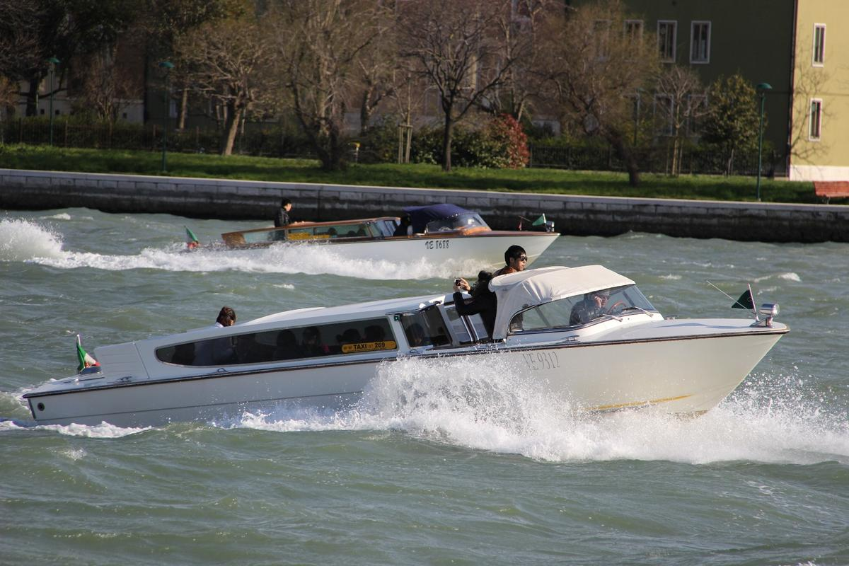 Water taxis in the city of Venice