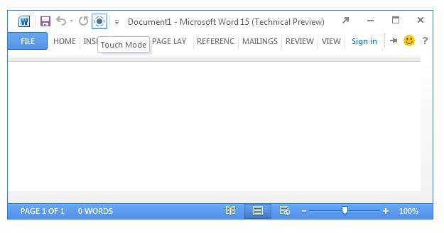 Leaked images suggest Office 15 will have a touch mode (Image: ZDNet)