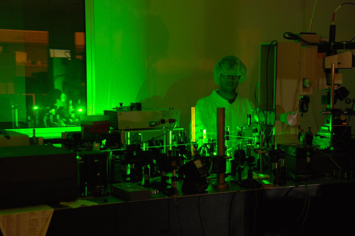 The University of Tennessee's regenerative amplifier, used to amplify femtosecond laser pulses