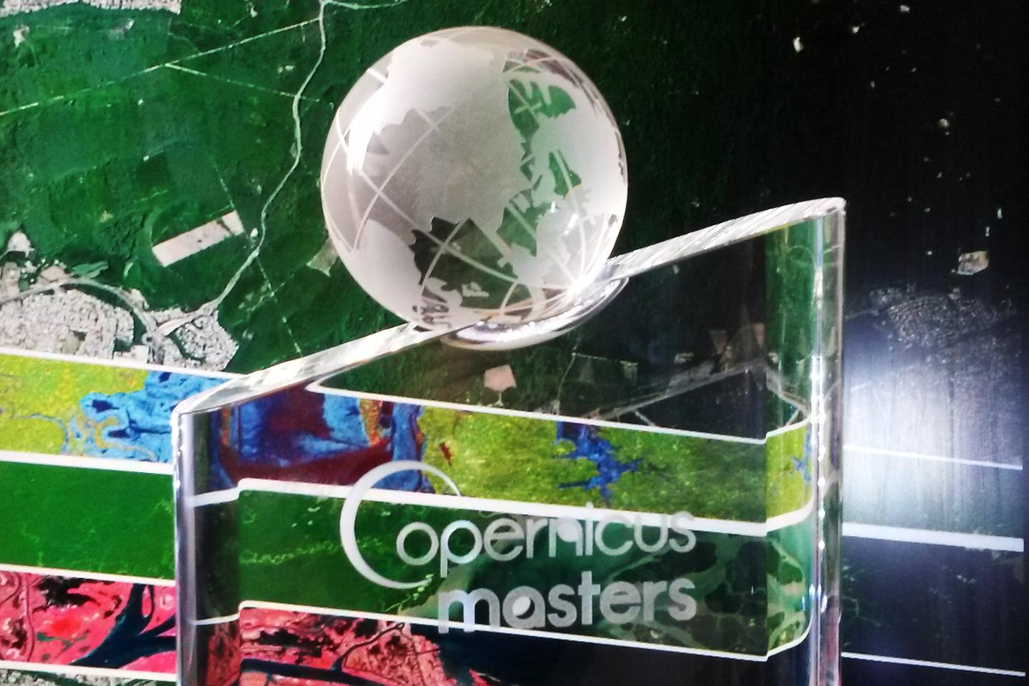 The Copernicus Masters 2014 trophy, to be awarded the outstanding idea, application, or business concept based on Earth observation data