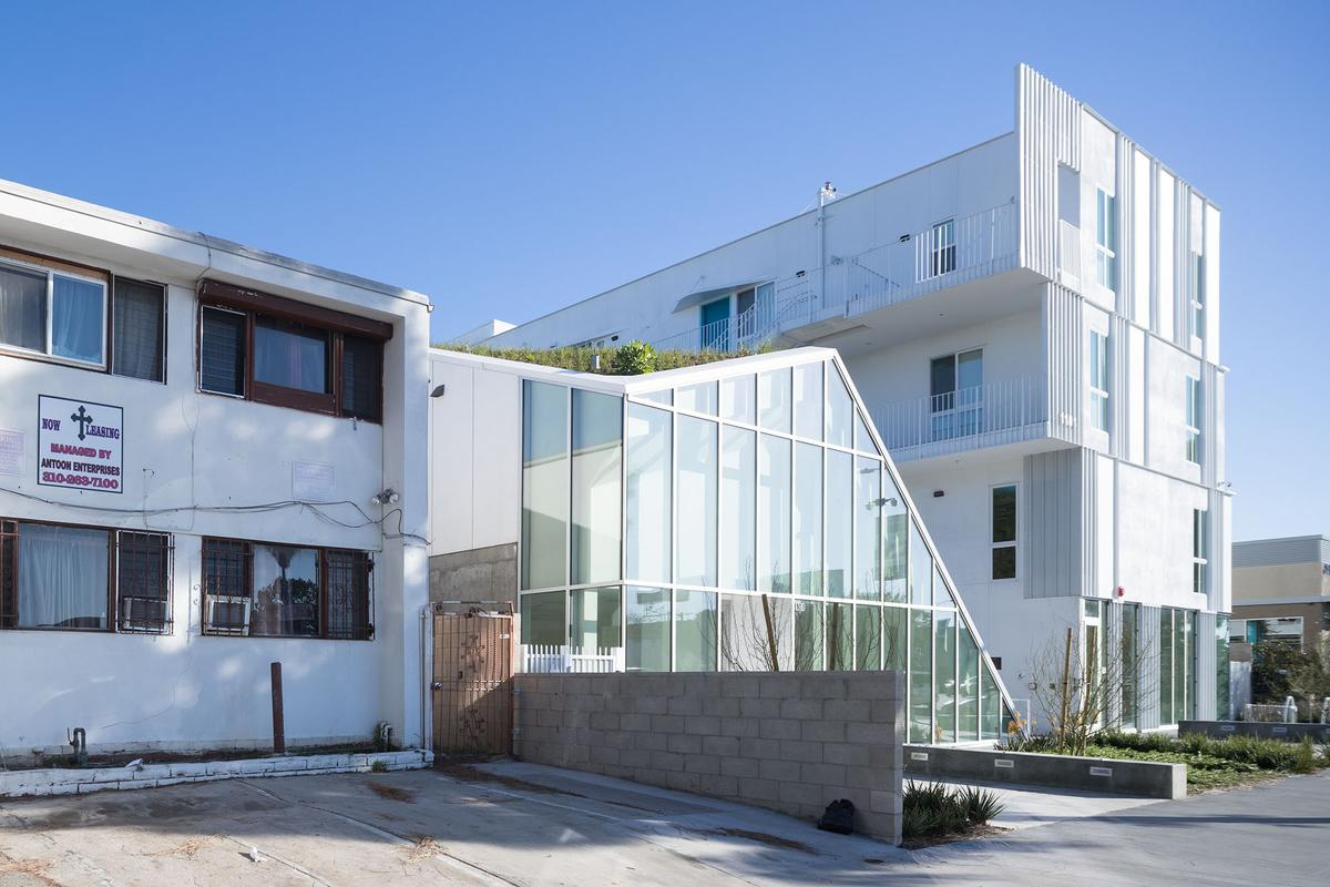 MLK1101 Supportive Housing is located in South L.A. on what was formerly a vacant lot