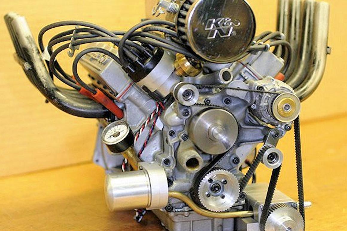 World's smallest supercharged four-stroke V8 engine now in
