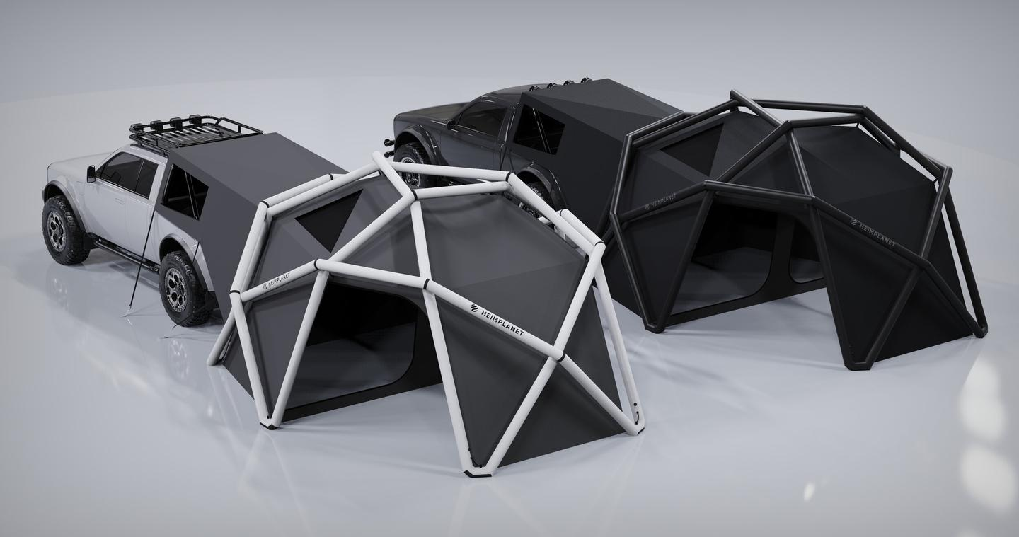 Alpha and Heimplanet show two looks for the Cloudbreak tent camper