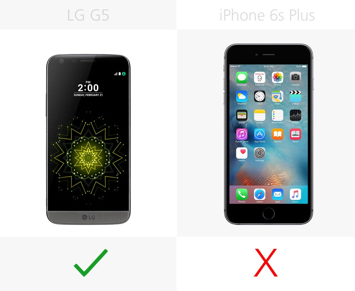 Lg G5 Vs Iphone 6s Plus