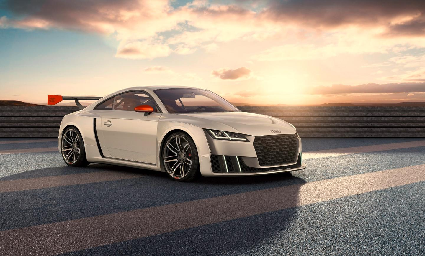 The Audi TT clubsport gets a serious widening