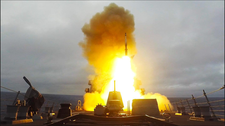 An SM-3 interceptor launching