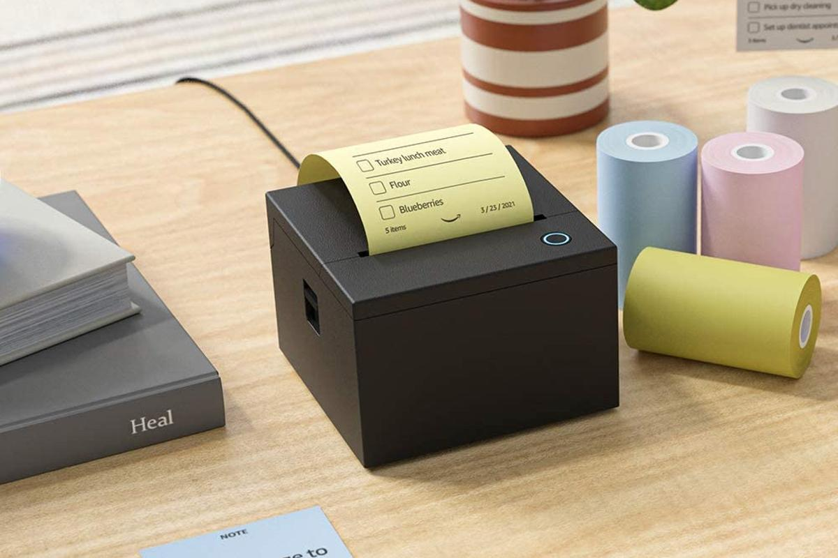 The printer is designed to work with most Echo devices, although it's not compatible with 1st-generation Echo, Echo Dot or Echo Plus units – or with Amazon Tap