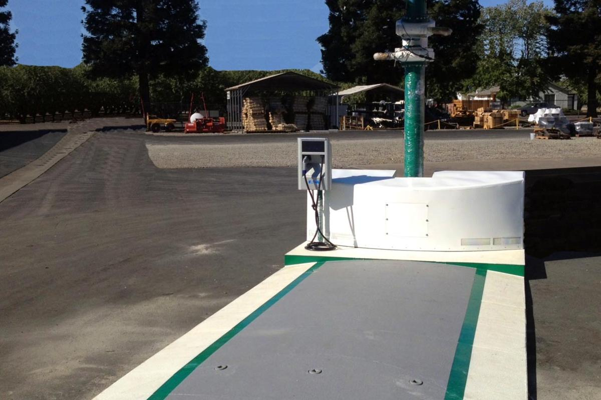 Envision Solar's EV ARC station is portable and sets up in minutes