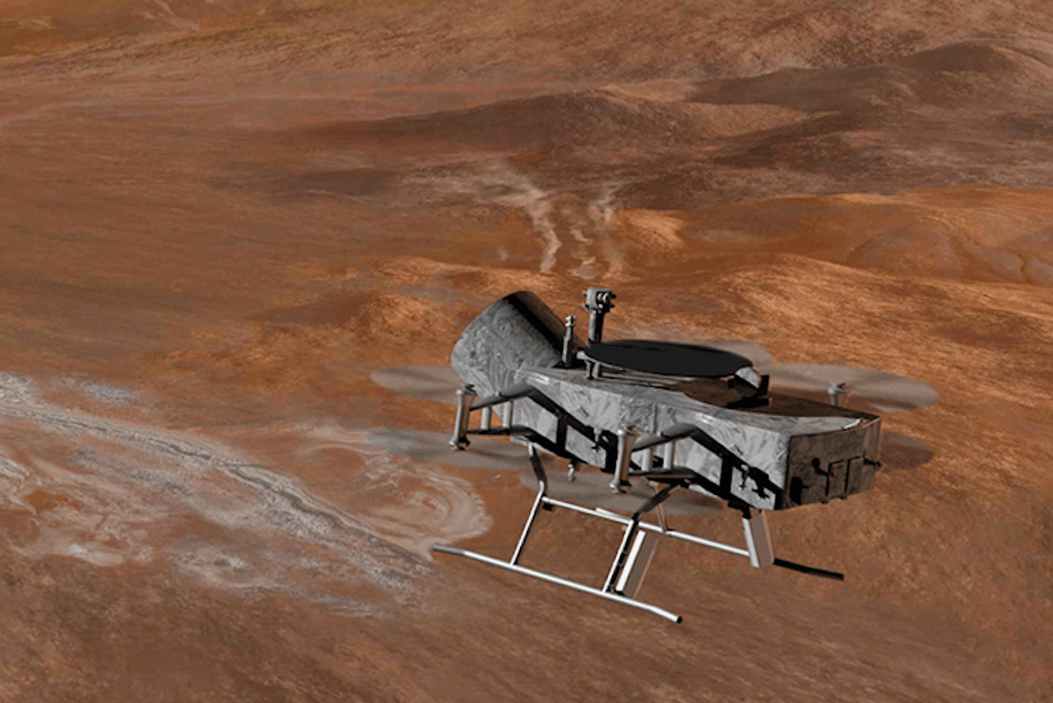 The latest proposal for NASA's next big exploratory mission - a quadcopter that can fly all around Saturn's moon Titan