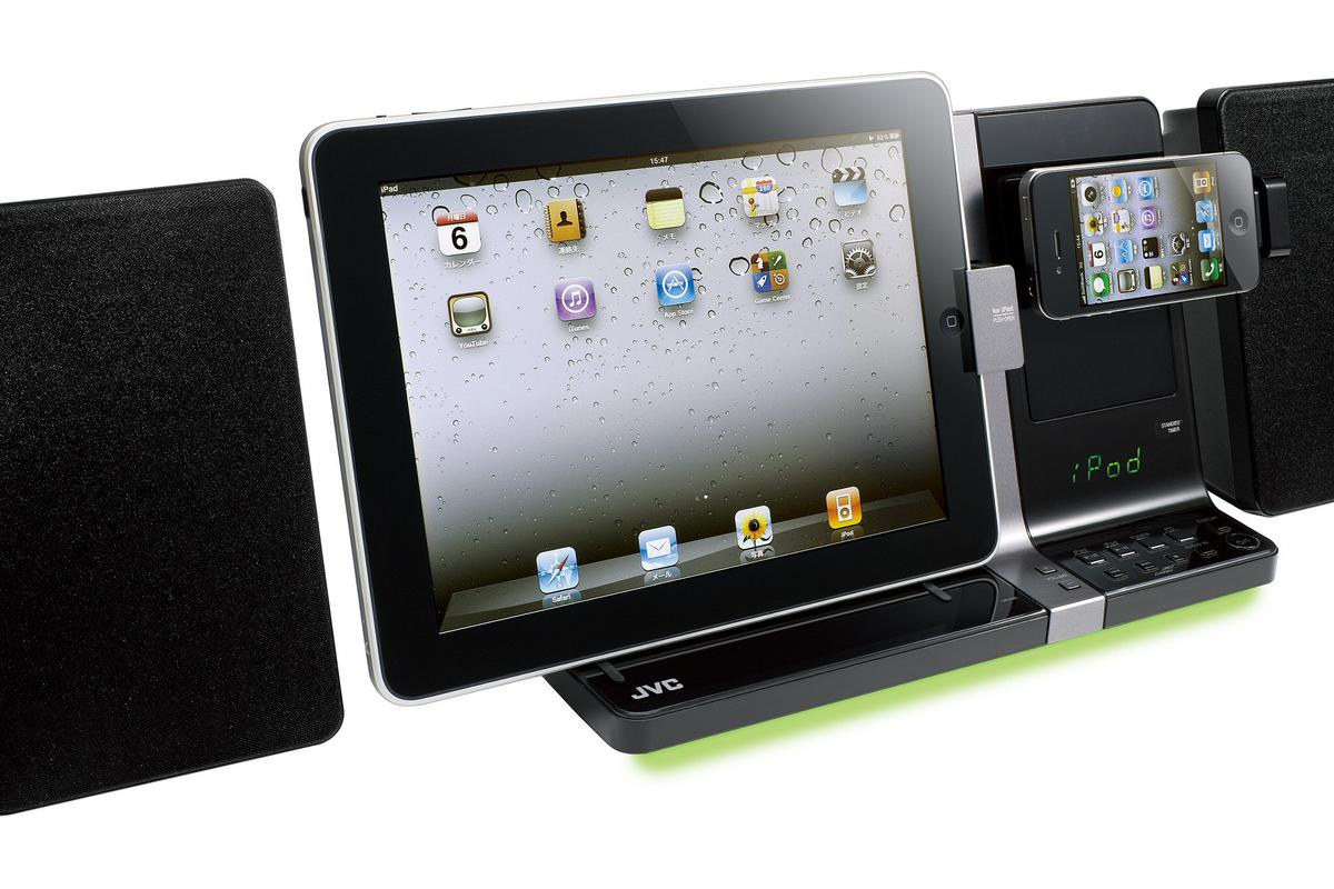 JVC has announced a sleek new speaker dock that can accommodate both an iPad and an iPhone/iPod at the same time