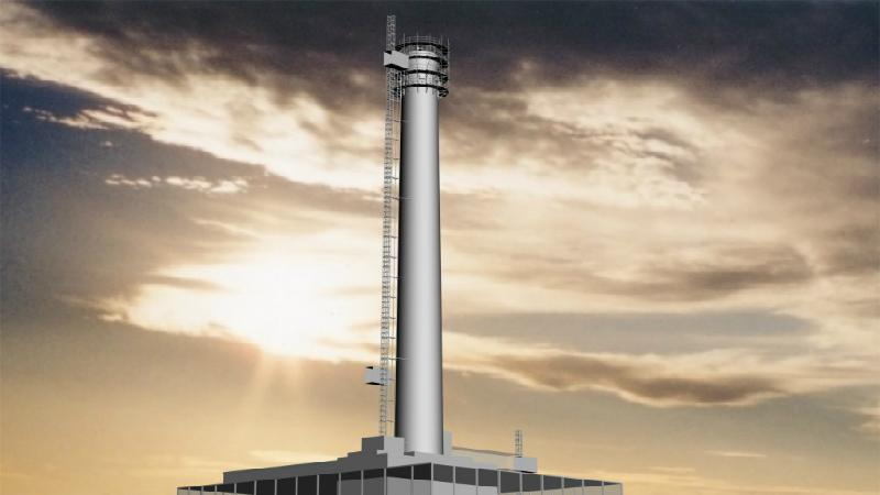 A self-climbing platform will be used to dismantle Sellafield's tallest chimney