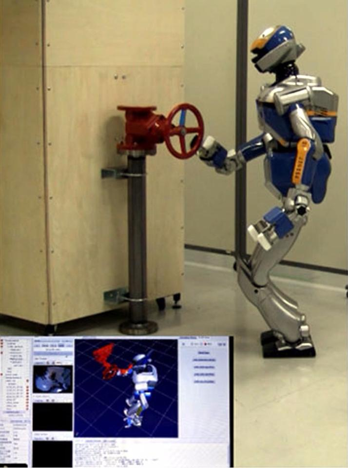 Planning and control of multi-contact movements by humanoid robot