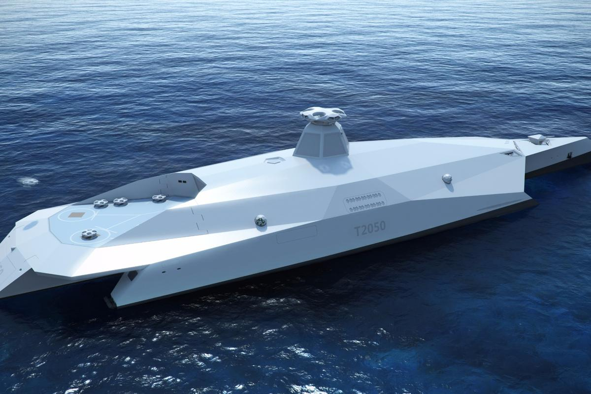 The Dreadnought 2050 concept is project Startpoints vision of the pride of the Royal Navy 35 years from now