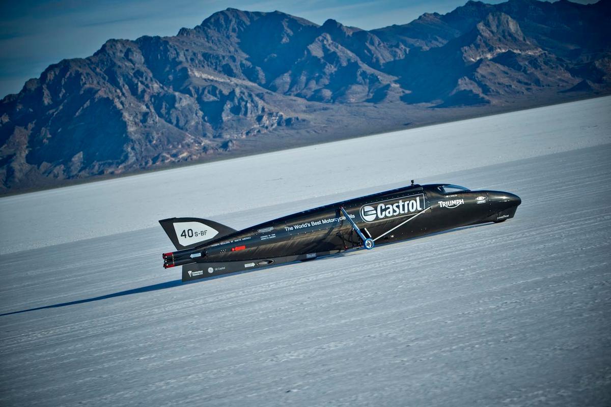 The Castrol Rocket in testing in Utah