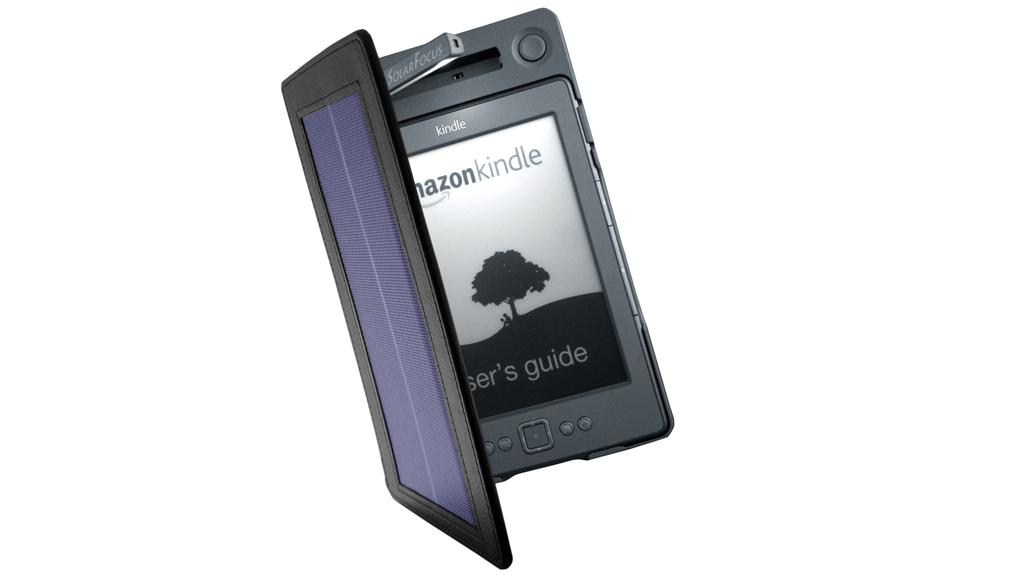 The SolarKindle is available for the Kindle 4 (pictured) and Kindle Touch