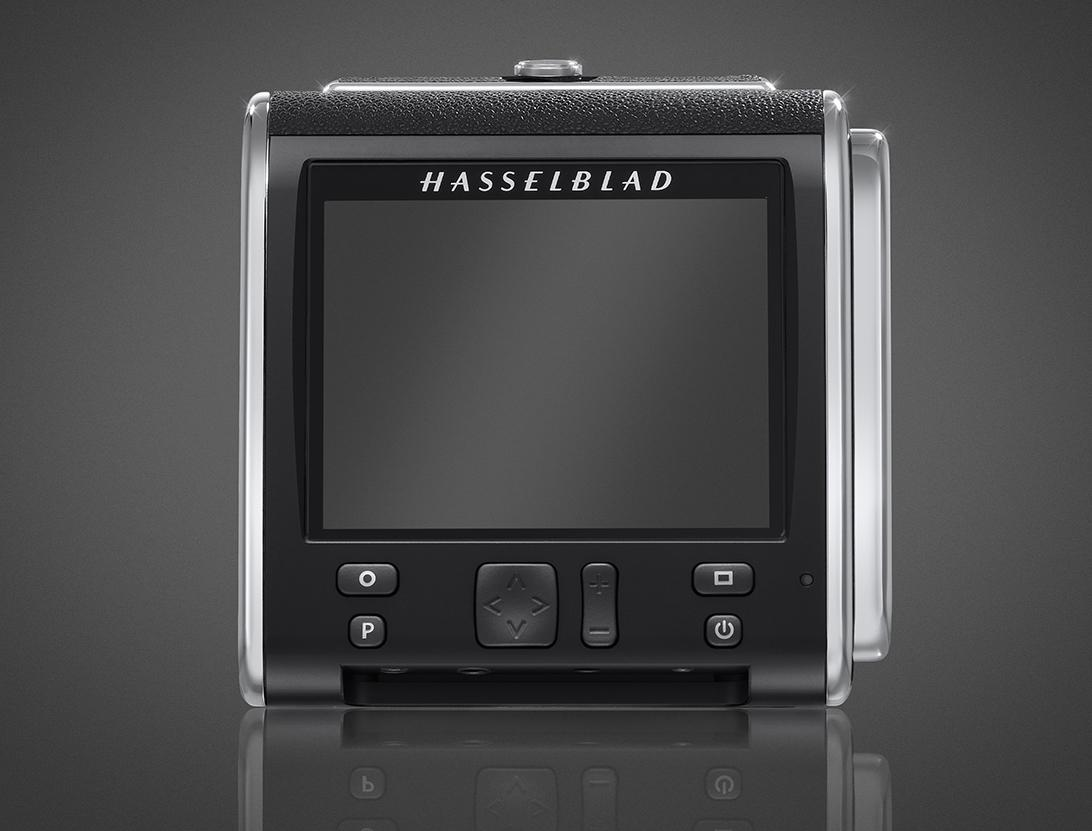 On the rear of the Hasselblad CFV-50c is a three-inch LCD