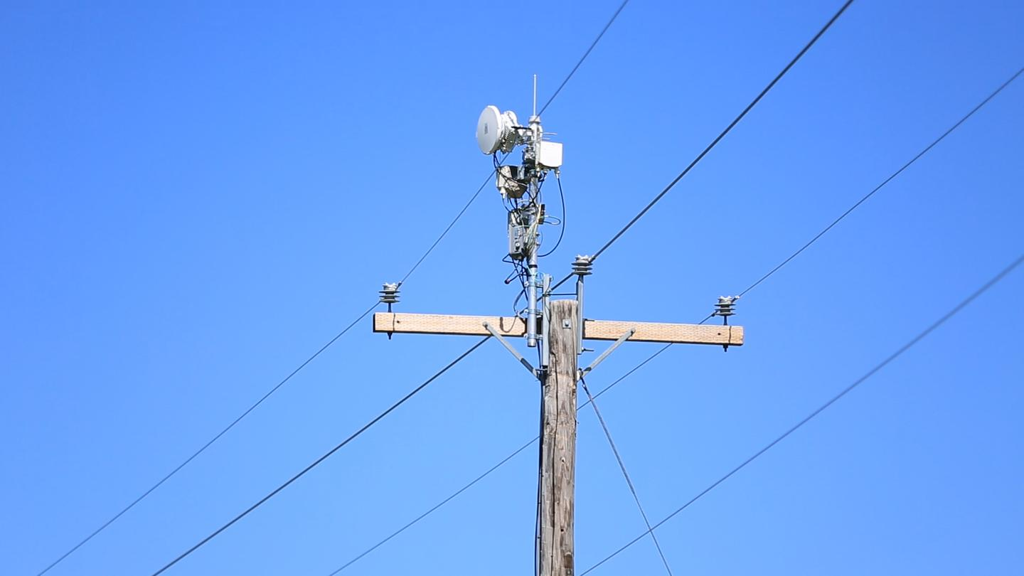 The AirGig system would rely on cheap plastic antennae placed atop power-line poles